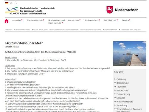 Screenshot einer Internetseite