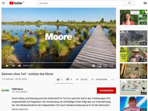 """Vorschau auf YouTube und das Video """"Gärtnern ohne Torf – schütze das Klima!"""" im Kanal FNR Videos der Fachagentur Nachwachsende Rohstoffe (FNR)"""