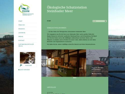 Vorschau auf oessm.org, der Homepage der Ökologischen Schutzstation Steinhuder Meer in Winzlar.