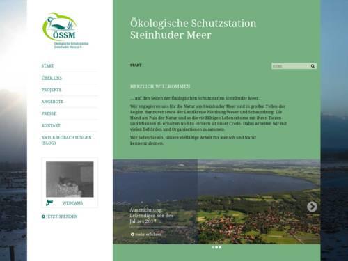 Vorschau auf den Internetauftritt der Ökologischen Schutzstation Steinhuder Meer (ÖSSM e.V. – www.oessm.org)
