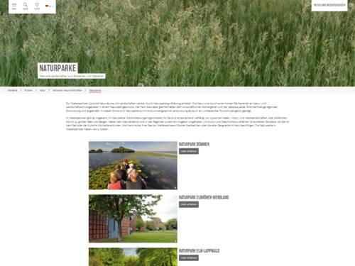 Übersicht der Naturparke in Niedersachsen auf www.reiseland-niedersachsen.de