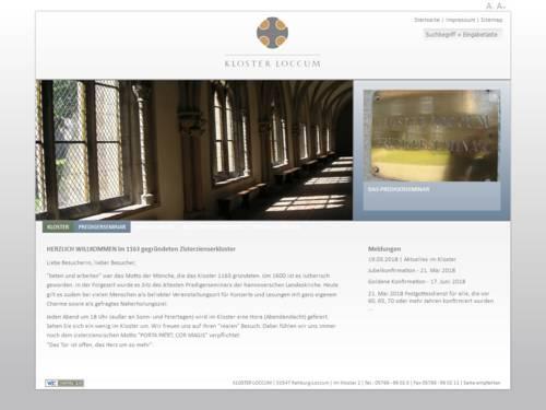 Internetauftritt des Klosters Loccum