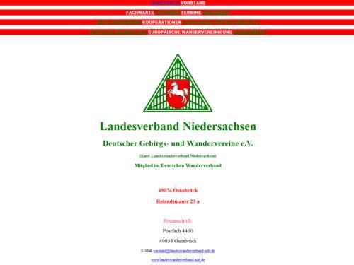 Vorschau auf den Internetauftritt des Landesverbands Niedersachsen - Deutscher Gebirgs- und Wandervereine e.V.