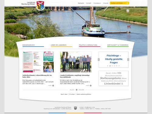 Vorschau auf den Internetauftritt des Landkreis Nienburg/Weser