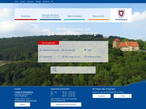 Vorschau auf den Internetauftritt des Landkreis Schaumburg