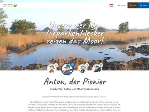 Vorschau auf den Internetauftritt des Naturparks Bourtanger Moor - Bargerveen