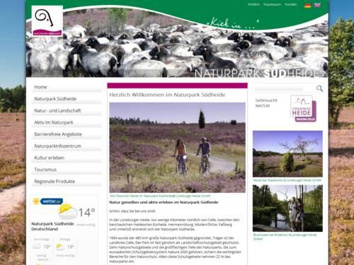 Vorschau auf den Internetauftritt des Naturparks Südheide