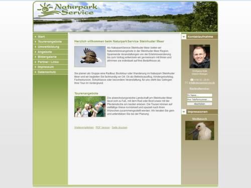Vorschau auf den Internetauftritt naturparkservice.de