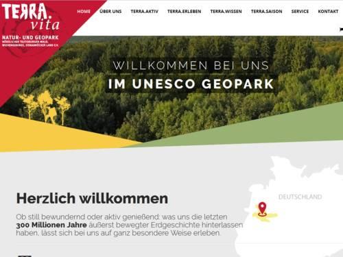 Vorschau auf den Internetauftritt des Naturparks TERRA.vita.