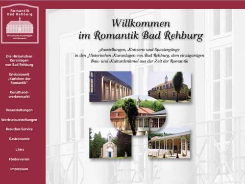 Internetauftritt der Kuranlage Romantik Bad Rehburg