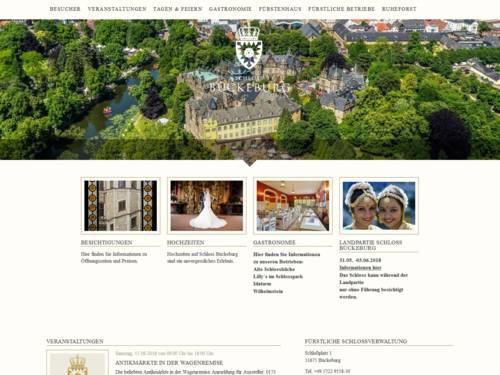 Internetauftritt von Schloss Bückeburg