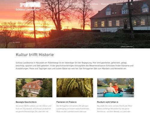 Internetauftritt von Schloss Landestrost