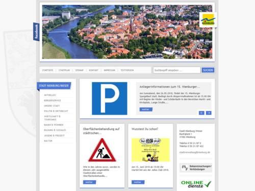 Internetauftritt der Stadt Nienburg/Weser