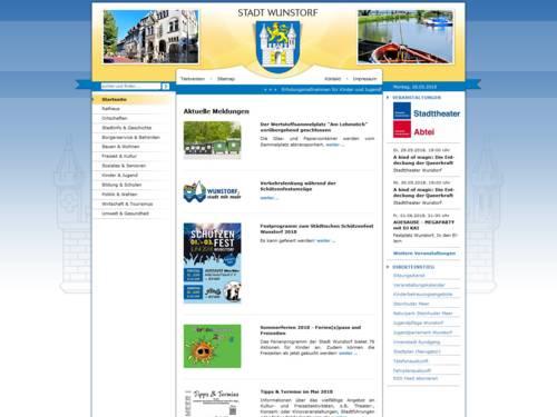 Internetauftritt der Stadt Wunstorf
