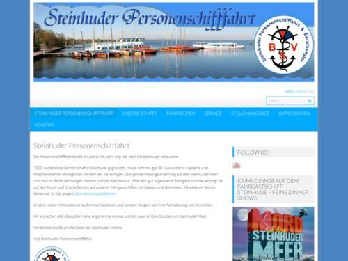 Internetauftritt der Steinhuder Personenschifffahrt
